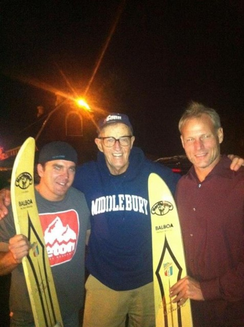 Dana Hinman, Warren Witherell and Hutch Haines in December 2012